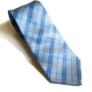 NEW Brand Q Italy Men Green Plaid Necktie
